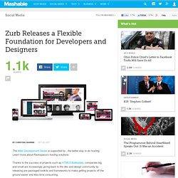 Zurb Releases a Flexible Foundation for Developers and Designers