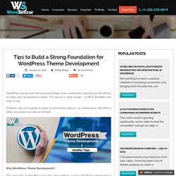 How to Build Strong Foundation for WordPress Development