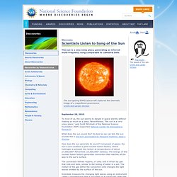 National Science Foundation (NSF) Discoveries - Scientists Listen to Song of the Sun