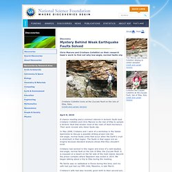 National Science Foundation (NSF) Discoveries - Mystery Behind Weak Earthquake Faults Solved