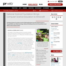 National Science Foundation Brings Computer Science Education to Minecraft