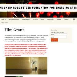 Film Grant - The David Ross Fetzer Foundation for Emerging Artists