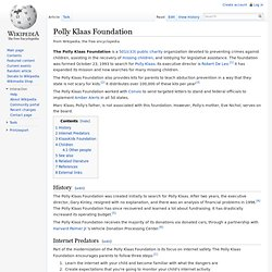 Polly Klaas Foundation