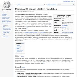 Uganda AIDS Orphan Children Foundation