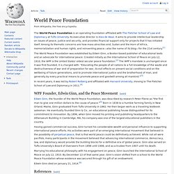 World Peace Foundation