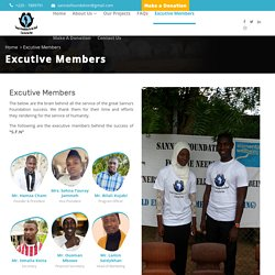 SFN Foundation (NGO) - Excutive Members Page