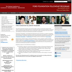 Ford Foundation Fellowship Program