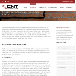 Foundation Crack Repair & Costs in South Carolina - CNT Foundations