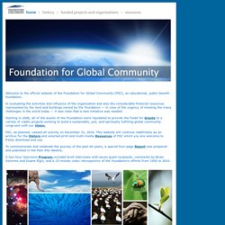 Foundation for Global Community - Home