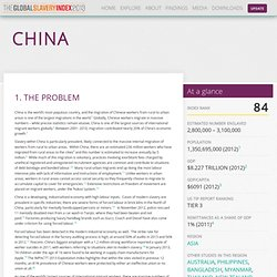 China - Walk Free Foundation - Global Slavery Index 2013