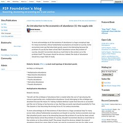 "P2P Foundation "" Blog Archive "" An introduction to the"