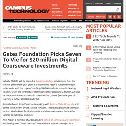Gates Foundation Picks Seven To Vie for $20 million Digital Courseware Investments