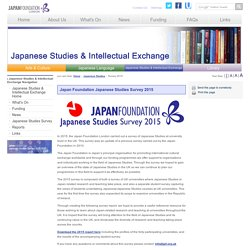 The Japan Foundation, London - Japanese Studies - Survey