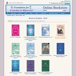 "Foundation for ""A Course in Miracles"" Bookstore - Books in English - ePub"