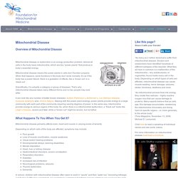 Foundation for Mitochondrial Medicine - Supporting Mitochondrial Disease Research and Treatments