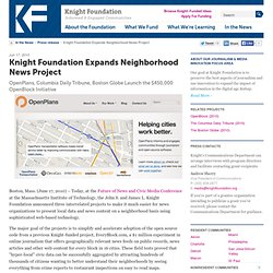 Knight Foundation Expands Neighborhood News Project - Knight Fou