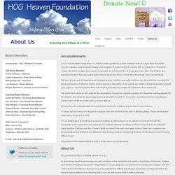 About Us - HOG Heaven Foundation - 501(c)3 nonprofit charity helping children around the world