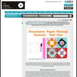 Foundation Paper Piecing Part 1