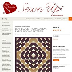 Leaf block – Foundation paper piecing pattern
