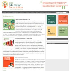 The Education Foundation – the UK's education think tank Publications - The Education Foundation – the UK's education think tank
