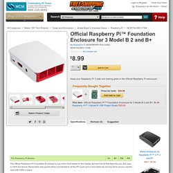 Raspberry Pi Official Raspberry Pi™ Foundation Enclosure for 3 Model B 2 and B+