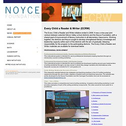 NOYCE FOUNDATION: Every Child a Reader & Writer (ECRW) Resources