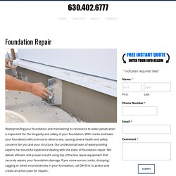 Foundation Repair, Drain Tile In Basement, Dupage County, IL