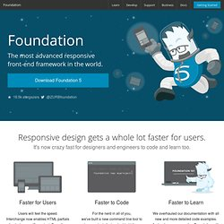 Foundation: Rapid Prototyping and Building Framework from ZURB