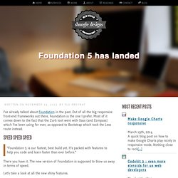 Foundation 5 has landed - by shoogle designs