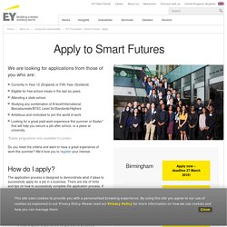 EY Foundation - Smart Futures - Apply - EY