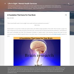 A Foundation That Cares For Your Brain