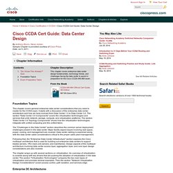 Foundation Topics > Cisco CCDA Cert Guide: Data Center Design