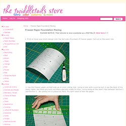 Freezer Paper Foundation Piecing : the twiddletails store, quilt fabric, quilting fabric, free quilt patterns, tutorials