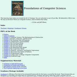 Aho/Ullman Foundations of Computer Science