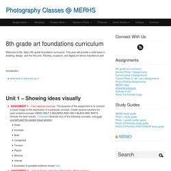 8th grade art foundations curriculum