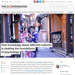 Knowledge of different cultures shakes up psychology 2 clicks