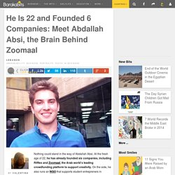 He Is 22 and Founded 6 Companies: Meet Abdallah Absi, the Brain Behind Zoomaal
