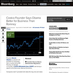 Costco Founder Says Obama Better for Business Than Romney
