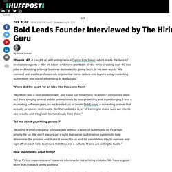 Bold Leads Founder Interviewed by The Hiring Guru