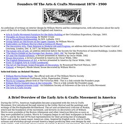 Founders Of The Arts & Crafts Movement