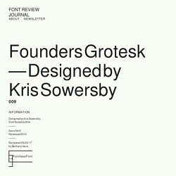 Founders Grotesk – Font Review Journal