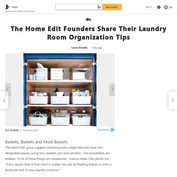 The Home Edit Founders Share Their Laundry Room Organization Tips