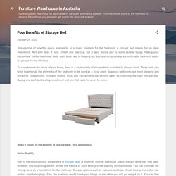 Four Benefits of Storage Bed