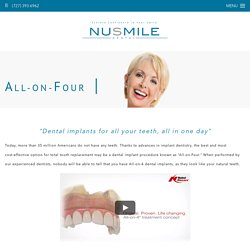 Contact NuSmile For Affordable All On Four Dental Implants