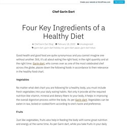 Four Key Ingredients of a Healthy Diet
