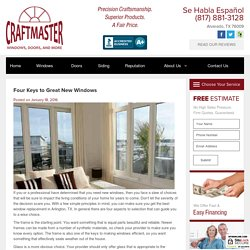 Four Keys to Great New Windows