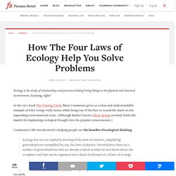 The Four Laws of Ecology: What Ecology Really Means
