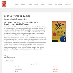 Four Lectures on Ethics - HAU Books