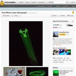 Four-Motor Laser Spirograph