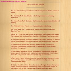 FOUR NOBLE TRUTHS - StumbleUpon